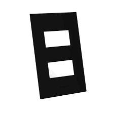 ENERBRAS BELEZE 1311-E7/P PLACA PARA 2 MODULOS D 2x4 PRETA