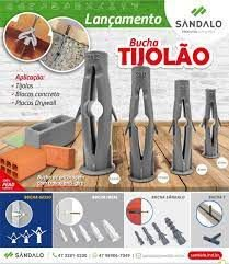 BUCHA FIXAÇAO TIJOLAO FULL N 06 COM 100 UD SANDALO