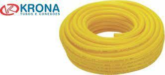 ELETRODUTO DE PVC FLEX CORRUGADO 25mm COM 50 MT KRONA ANTI CHAMA