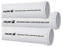 TUBO ESGOTO PRIMARIO 100mm PVC COM 6 MT TIGRE (A VISTA )