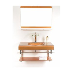 Kit Banheiro Pettra Vidro Capr/Jupiter Dourado 80cm