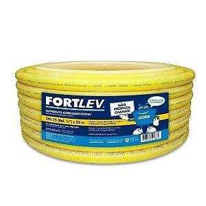 Mangueira Corrugada PVC Amarela 3/4 C/ 25m