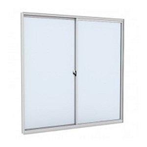 Vitro de Alumínio Branco 100x100 2F Slim