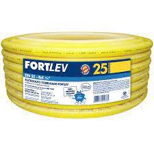 ELETRODUTO CORRUGADO PVC 25mm AMARELO FORTLEV COM 25MT