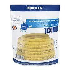 ELETRODUTO CORRUGADO PVC 25mm AMARELO FORTLEV COM 10MT COD IND 13000254