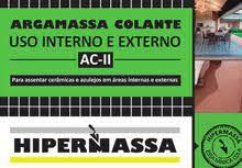 ARGAMASSA HIPERMASSA EXTERNA AC 2 COM 20 KG