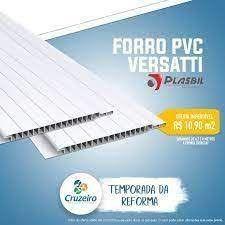 FORRO PVC PLASBIL VERSATTI 4mm x 200mm BRANCO M2 A VISTA