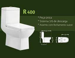 VASO SANITARIO MONOBLOCO RENO QUADRADO R400 BRANCO