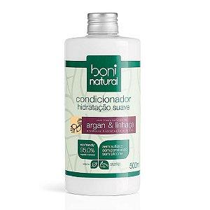 Condicionador Hidratação Suave Argan & Linhaça 500ml | Boni