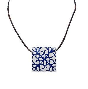 Colar Difusor Pessoal Azuleijo | Barro Blue