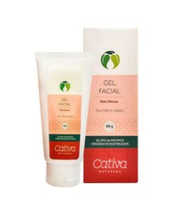Gel Facial Pele Oleosa (secativo) 30ml | Cativa Natureza