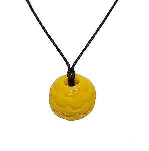 Colar Difusor Pessoal Sereia Amarelo | Barro Blue