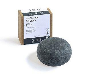 Shampoo Sólido Natural DETOX Todos os Tipos de Cabelo 80g | B.O.B