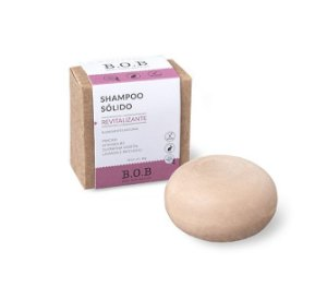 Shampoo Sólido Natural REVITALIZANTE Cabelos Danificados por Química  80g | B.O.B