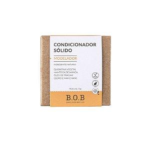 Condicionador Sólido Natural MODELADOR Cabelos Cacheados e Crespos 55g   B.O.B