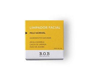 Limpador Facial Sólido Natural PELE NORMAL 55g   B.O.B