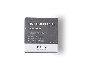 Limpador Facial Sólido Natural PELE OLEOSA 55g   B.O.B