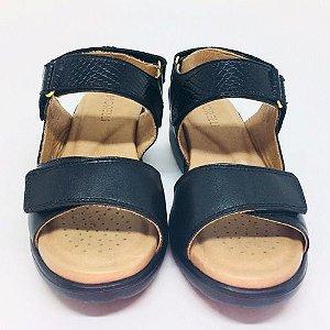 Sandálias Femininas Em Couro Conforto Ortopédico 80008