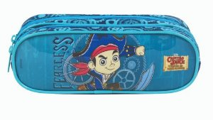 Estojo Capitão Jake Dermiwil Duas Divisões Azul 30064