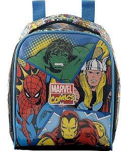 Lancheira Infantil Menino Marvel Comics Xeryus Preta 7074