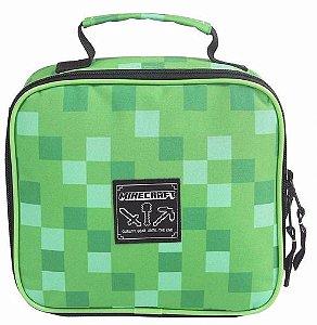 Lancheira Jovem Minecraft Verde Dmw Térmica 11263