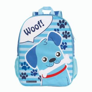 Mochila Escolar Infantil Dmw Grande Azul Dog 11429