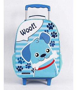 Mochila De Rodinha Infantil Escolar Dmw Dog Azul 11430