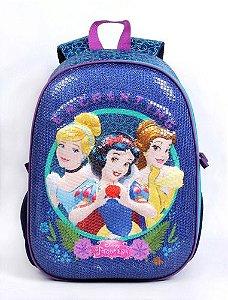 Mochila Escolar Infantil Dermiwil Grande Princesas 52131