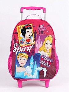 Mochila De Rodinha Escolar Dermiwil Princesas Disney 52100