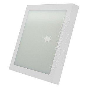 Luminária Painel Plafon Led 25w Quadrado Sobrepor Frio