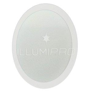 Luminária Painel Plafon Led 12w Branco Quente Redondo Embutir