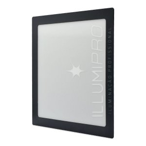 Luminária Painel Plafon Led 3w Branco Quente Quadrado Embutir Preto