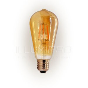 Lâmpada Filamento Led Decorativa Retrô Vintage Âmbar ST64 4,5W