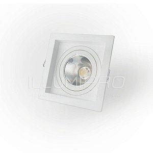 Embutido Teto AR70 Quadrado Recuado Branco Save Energy