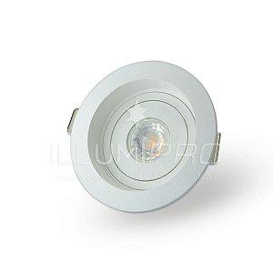 Embutido Teto MR16 Redondo Recuado Branco Save Energy