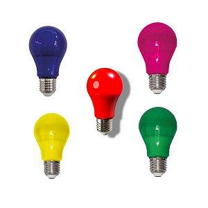 Lâmpada Led Bulbo A60 7w Colorida Decorativa E27 Bivolt