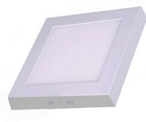 Luminária Plafon Led 24w Quadrado Sobrepor Quente