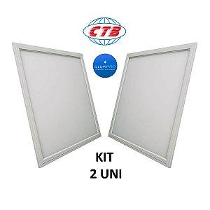 Luminária Plafon Painel Led 36w Embutir 40x40 Branco Frio