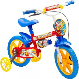 Bicicleta Infantil Menino Aro 12 Fire Man Nathor