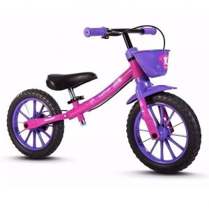 Bicicleta Balance Pre Bike Sem Pedal Infantil Menina Nathor