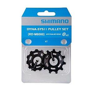 Roldana Shimano Câmbio Traseiro Xt Rd-m8000 Dyna-sys11 - Par