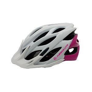 Capacete Ciclismo Absolute Mia Branco/Rosa Tam 54-57cm