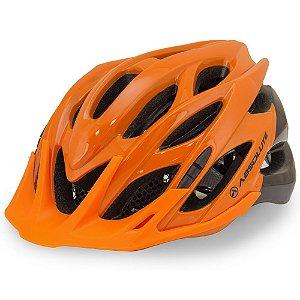 Capacete Ciclismo Absolute Wild Laranja Preto Sinalizador Tam 58-61cm