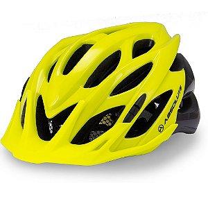 Capacete Ciclismo Absolute Wild Amarelo Preto Sinalizador Tam 58-61cm