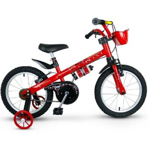 Bicicleta Infantil Nathor Aro 16 Bella Vermelha Feminina