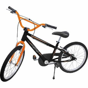 Bicicleta Infantil Nathor Aro 20 Apollo Preta Laranja Bike