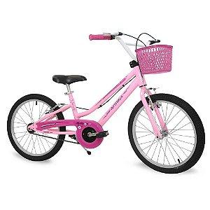 Bicicleta Infantil Nathor Aro 20 Bella Rosa Branca Menina Bike