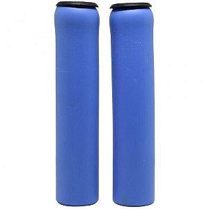 Manopla Absolute NBR1 Azul Espuma Silicone Bike Mtb - Par
