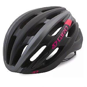 Capacete Feminino Giro Saga Mtb Speed Preto Cinza E Rosa
