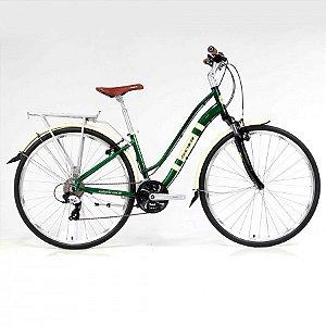 Bicicleta Soul Amsterdam Retrô Aro 700 24v Verde Bege